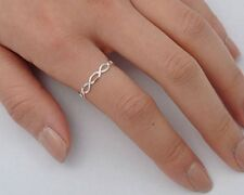 USA Seller Tiny Infinity Ring Sterling Silver 925 Plain Size 12