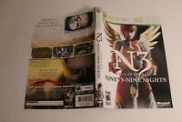 N3 Ninety-Nine Nights Xbox 360 replacement cover art insert only! original