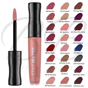 RIMMEL Stay Matte Liquid Lip Velvet Matte Lipstick, Full Cover *CHOOSE SHADE*