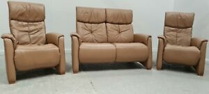 Himolla Leather 2 seater recliner sofa 2 x Recliner Chairs 1606212