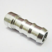 """1/4"""" 7MM Aluminium WELD ON BARB Push On Tail Hose Fitting Adapter Fuel Oil Tank"""