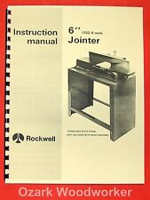 """ROCKWELL/DELTA 6"""" Jointer 37-600 Operator Parts Manual 0629"""