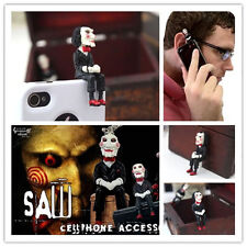 SAW 3D Jigsaw Puppet Doll Anti Dust JACK Cap Plug 3.5mm Plug for Phone Free ship