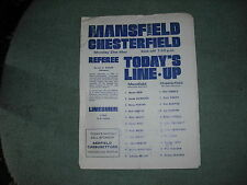 MANSFIELD TOWN  V  CHESTERFIELD  21-5-79  FOUR PAGER