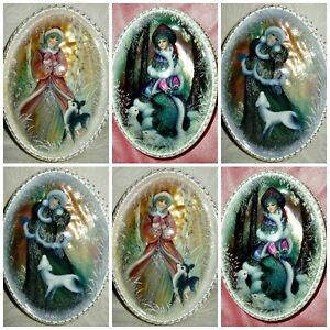 OVAL CHRISTMAS  Embellishments, Card Making Toppers, Card Toppers