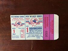 Mickey MANTLE Willie Mays World Series Debut Ticket 1951 G1 NY Yankees NY Giants
