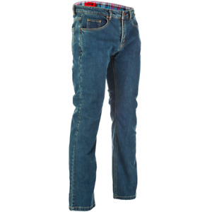 2021 Fly Racing Resistance Oxford Street Motorcycle Jeans Blue