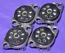 Four NOS 7 pin Miniature Vacuum Tube Sockets for 6AQ5, 6AU6, 12BA6, 12BE6, etc