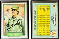 Steve McCatty Signed 1982 Fleer #99 Card Oakland Athletics Auto Autograph