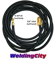 WeldingCity Power Cable/Water Hose 45V04R Rubber 25-ft 250A TIG Welding Torch 20