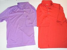 Pga Tour Men's Golf Polo Shirts Lot of 2 Lavender Purple & Red Size Xl