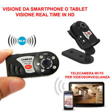Mini Wireless Telecamera Camera WIFI IP spia SPY Sorveglianza Q7 Per IOS Android