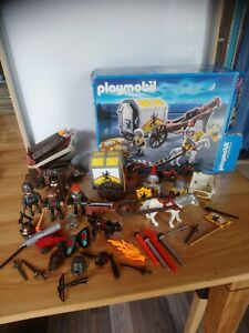 Lot divers chevaliers armes grand arbalète armes playmobil + boîte 4874 complet