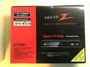 Open Box -Zenith DTT901 Digital TV Tuner Converter Box with Analog Pass-Through