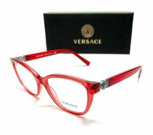 Versace VE3273 5307 Red Women's Round Eyeglasses Frame 52 mm