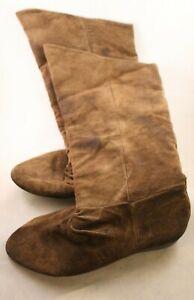 Classique - Brown Suede Knee Length Boots - Size 7 (US)