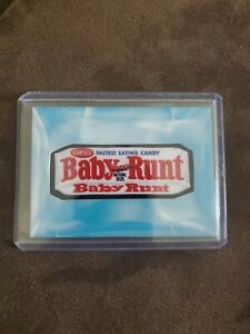 """2020 Garbage Pale Kids """"Food Fight"""" Wacky Packages Patch Card - Baby Runt 52/199"""