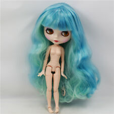 Neo Blythe Factory Nude Doll Green Mix Blue Long Curly Hair Azone Special Body