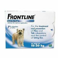Frontline Spot On Medium Dog 10-20kg (3Pipettes) - 20046
