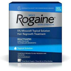 Rogaine Men's Extra Strength Solution 3-mo Hair Regrowth Treatment Follicle CHOP