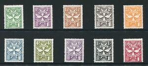 Weeda Malta #J22-J31 VF MNH 1968 issue set of 10 stamps CV $7.85