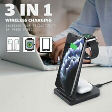 3in1 Qi Fast Wireless Charger For Apple Watch Charging Holder Dock Station