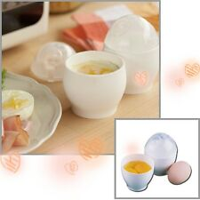 Practical 2Pcs White Microwave Oven Cup Poacher Quick Eggs Cooker Cooking Tools