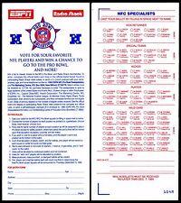 """1995 NFC PRO BOWL"" UNUSED MINT BALLOT~NFL 1994 FOOTBALL SEASON w/HALL-OF-FAMERS"