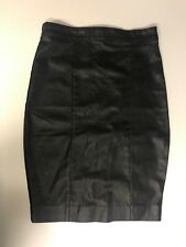 Leather Topshop Skirt Size 8 Classic Pencil Black