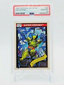 1990 Marvel Universe Series 1 Wolverine #23 GEM MINT PSA 10