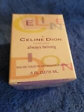 Celine Dion Always Belong Perfume For Women .5oz. - New In BOX