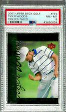 2001 Upper Deck Golf Tiger Woods #TT6 PSA 8