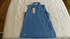 1 NWT ADIDAS WOMEN'S GOLF TOP, SIZE: SMALL, COLOR: BLUEME  ***B201