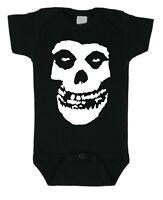 MISFITS Skull Band Baby Bodysuit Horror Punk Unisex Black Rocker FREE Shipping
