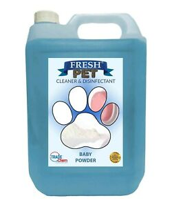 Fresh Pet Cleaner Deodoriser - Paw friendly kills 99.9% 5L - Baby Powder