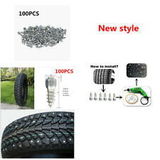 100pcs Durable Screw in tire Stud for Car Truck ATV Carbide tips with Steel Body