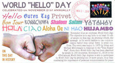 "COVERSCAPE computer designed ""World Hello Day"" event cover"