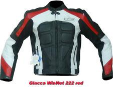Giacca in pelle da per moto uomo nero XXL 56 3XL 58