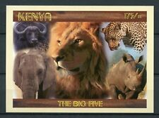Kenya 2017 MNH Big Five 1v Imperf M/S Rhinos Elephants Lions Wild Animals Stamps