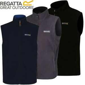 Regatta Mens Tobias Lightweight Micro Fleece Full Zip Bodywarmer Vest Gilet