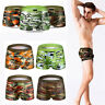 Men Camouflage Low Rise Underwear Boxer Brief Swim Trunks Sport Shorts L-XXXL
