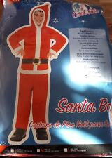 SANTA BOY/GIRL All in one with Hood. Age 10-12 years, a great Santa Fancy Dress