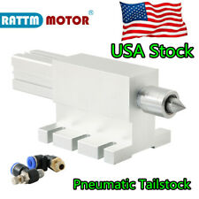 Us Air Operated Indexing Head Pneumatic Tailstock 65mm Cnc Machine Lathe Center