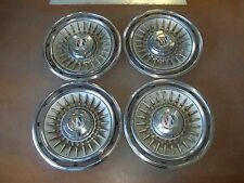 "1964 64 Buick Electra Hubcap Rim Wheel Cover Hub Cap 15"" OEM USED A19 SET"