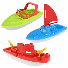 3 piezas de baño de barco de juguete, yate, lancha rápida, velero, portaaviones