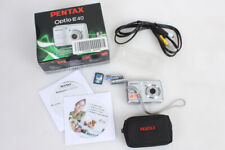 PENTAX OPTIO E-40 8.1 MEGAPIXEL 3X ZOOM DIGITAL CAMERA IN BOX NEW BATTERY