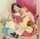 Chase Piano 1893 girls w/ catalog Fike Attica OH BIG Victorian Music Trade Card