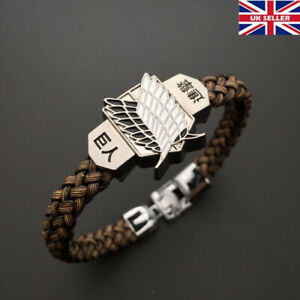 Attack on Titan Anime Bracelet Wristband Wings of Freedom UK Stock