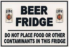 Warning Refrigerator Magnet - 3 1/2 X 5 inches - Beer Fridge - Miller Lite 01