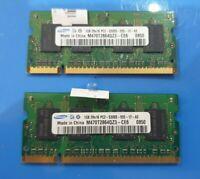 2GB SAMSUNG (2x 1gb) sodimm DDRII RAM MEMORY PC2 DDR2 5300s-555-12-A3  2Rx16